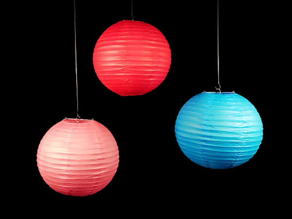 Lampion blau gross